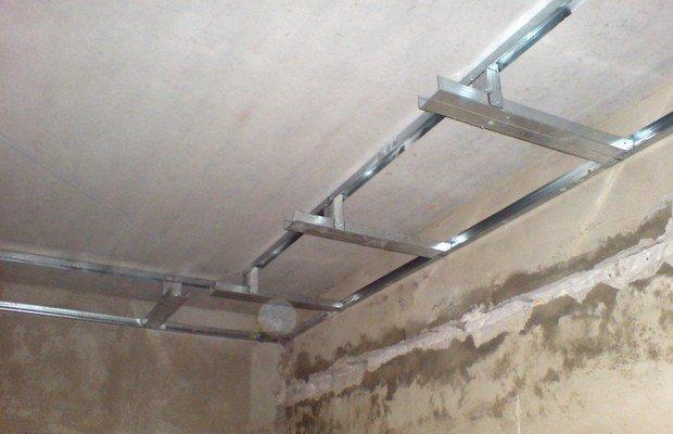 Как сделать каркас на потолке для гипсокартона с подсветкой фото