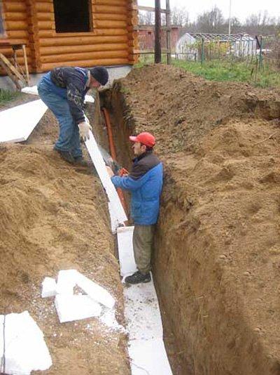 Утепление канализационных труб в земле своими руками
