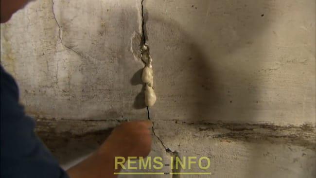 Закладення тріщин у стіні
