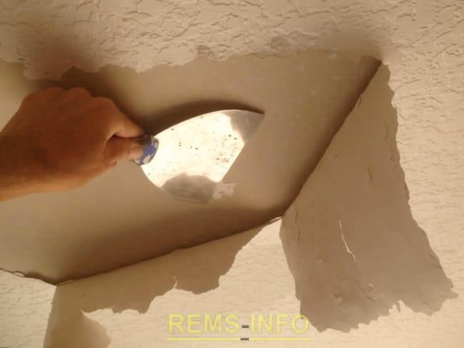 Відновлення рельєфного стелі