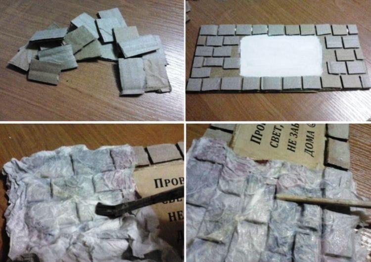 Бумажные камни своими руками