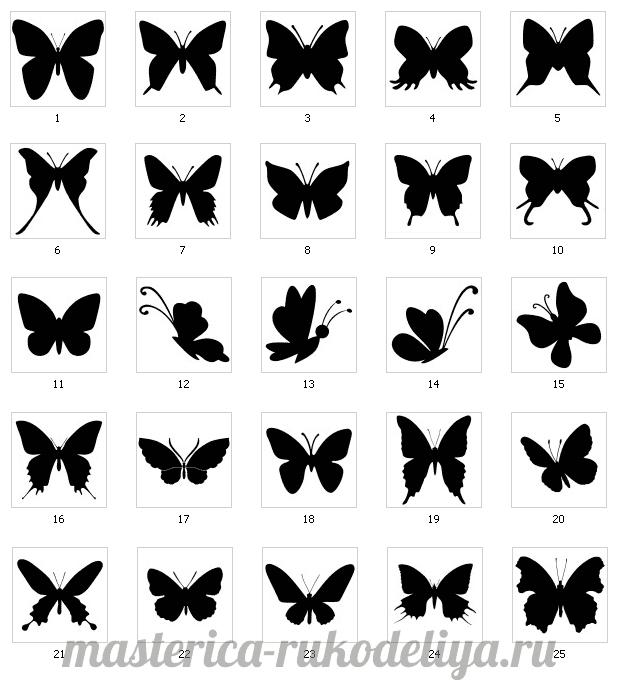 Декор стен бабочками своими руками трафарет 35