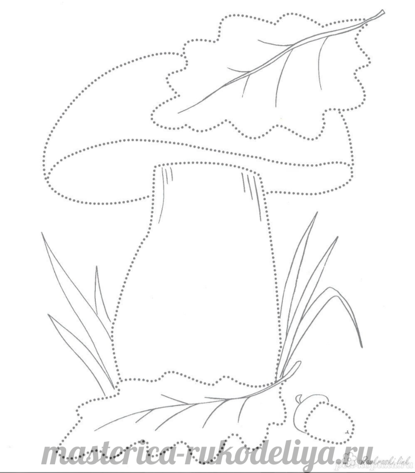 Схема аппликации грибок