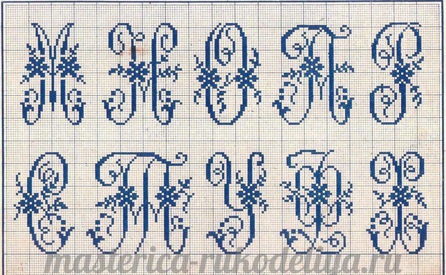 Вышивка букв русский алфавит схемы 889