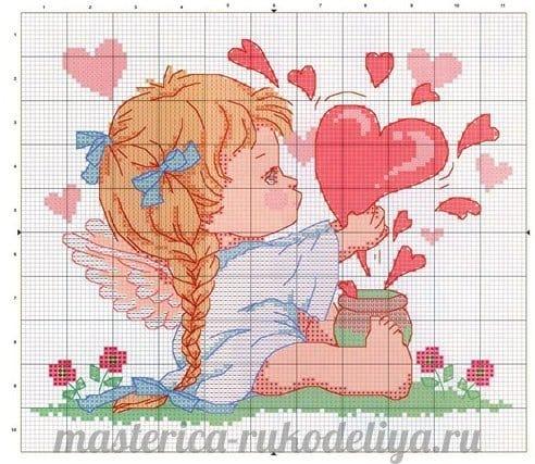 Вышивки ангелочков схемы 44
