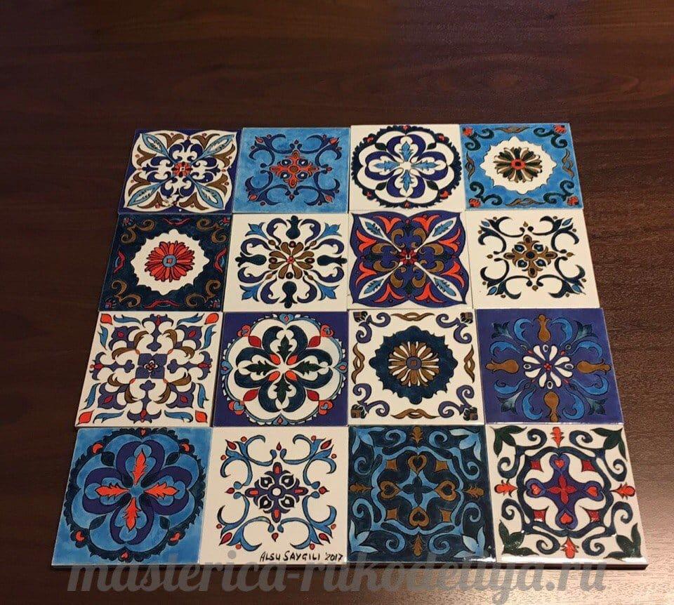 Роспись по керамической плитке своими руками мастер класс