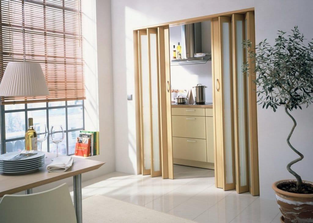 Двері-гармошка: види, критерії вибору і ключові особливості конструкції