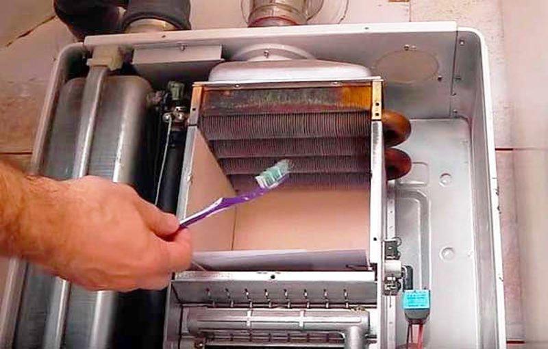 как почистить запальник газового котла