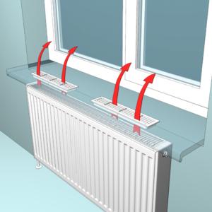 Вентиляційні решітки на підвіконня вікон для батарей опалення: вибір конвекційної вентиляції