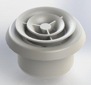 Вентиляційний дифузор: види повітророзподільників, призначення, установка і монтаж стельових моделей