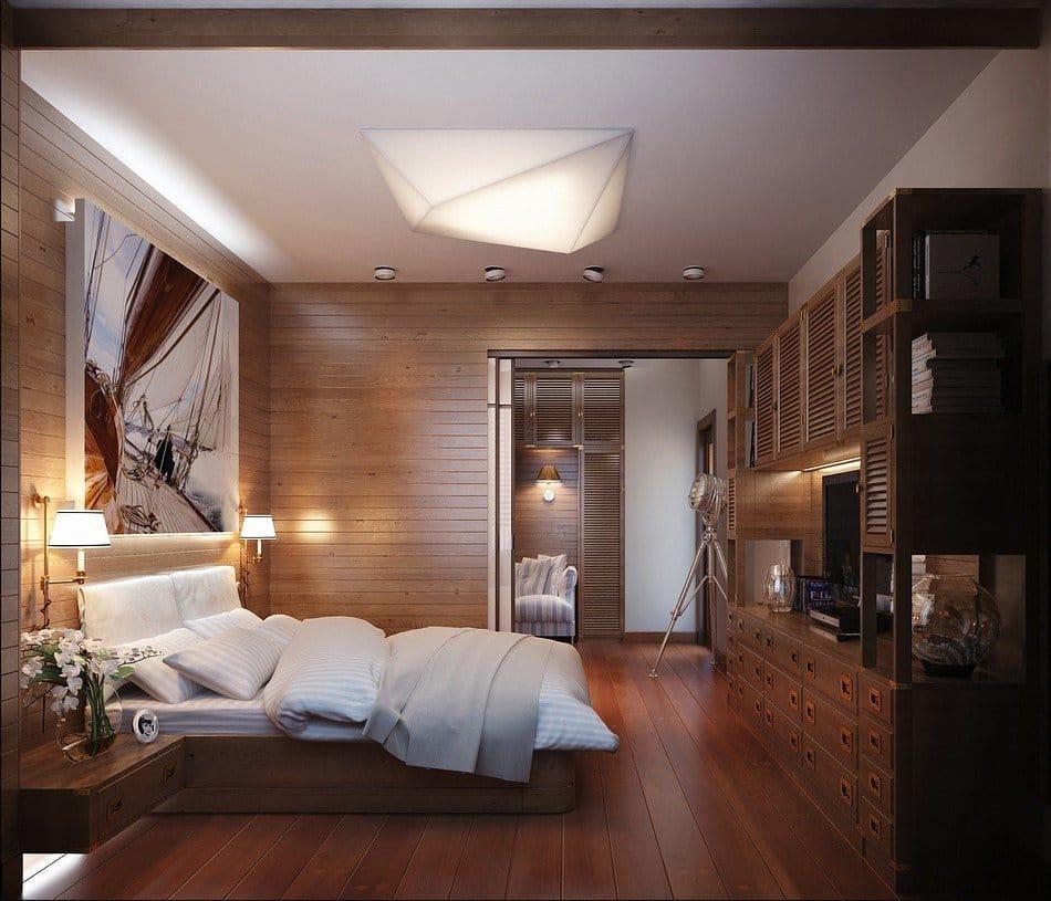 5 варіантів нестандартного оформлення стіни в спальні