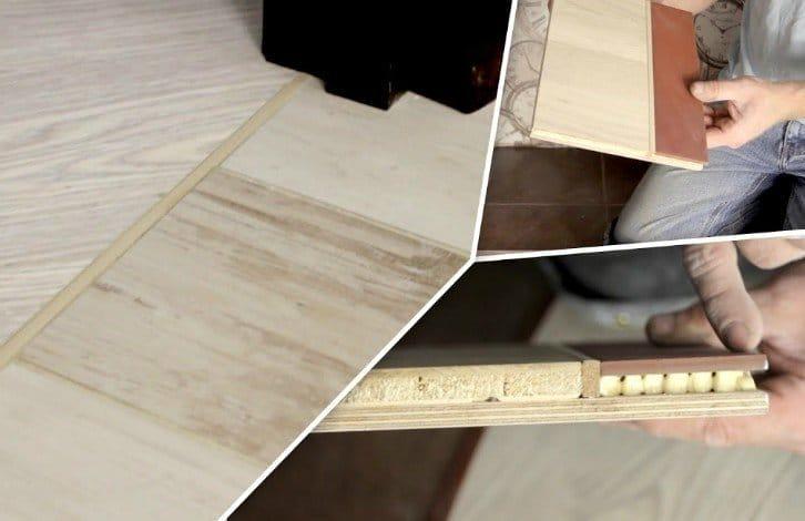 Як правильно стикувати 2 різних підлогових матеріалу