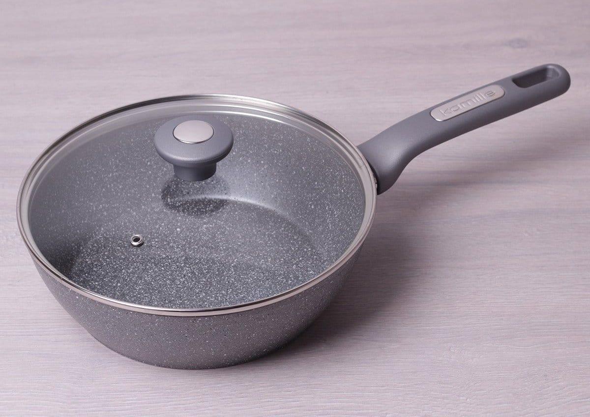 Сковорода з гранітним покриттям: що це таке, плюси і мінуси, яка сковорідка краще граніт або мармур