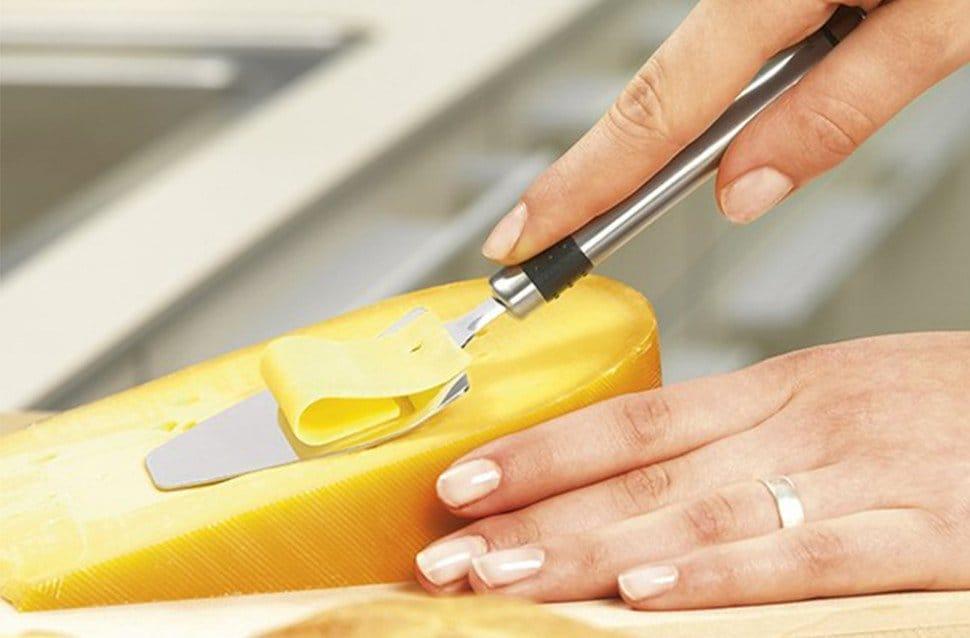 Ножі для нарізки сиру: види, що потрібно знати при виборі, виробники, рекомендації з догляду і зберігання
