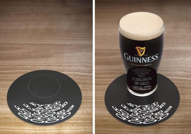 Підкладка для келиха пива: форми, розміри, вага, матеріали