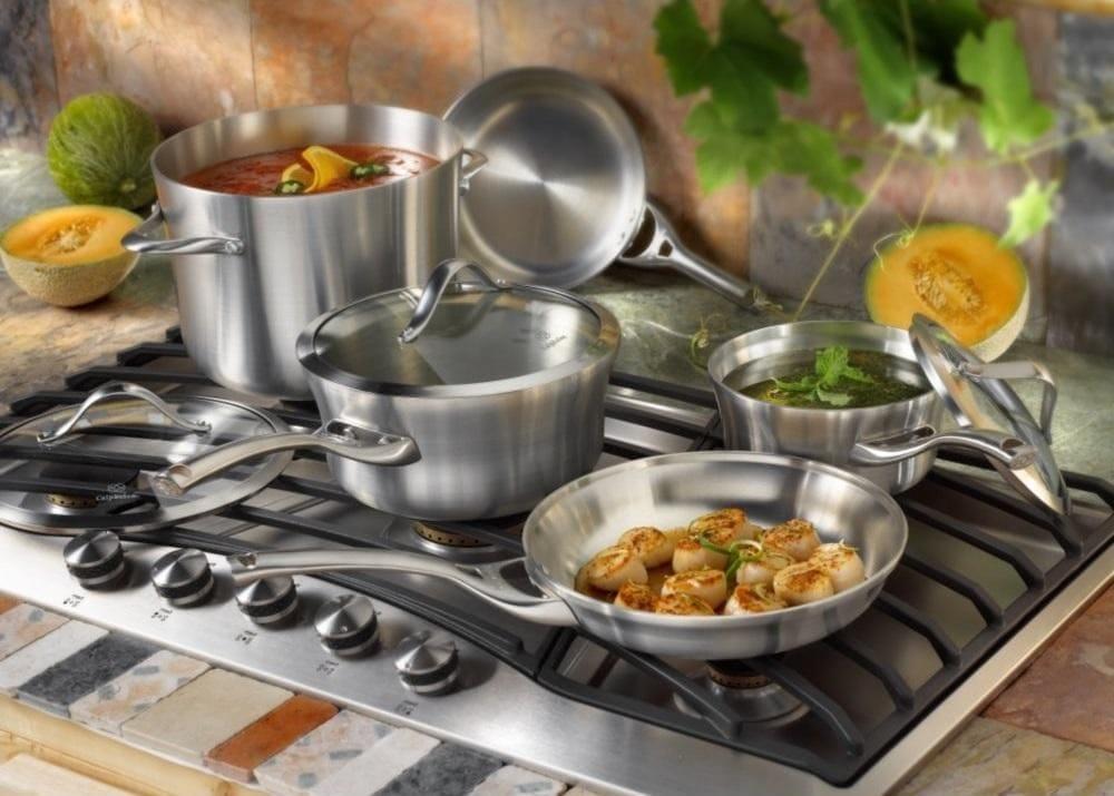 Професійні сковорідки з нержавіючої сталі: нержавіючої сталі без покриття та з антипригарним покриттям, з товстим дном