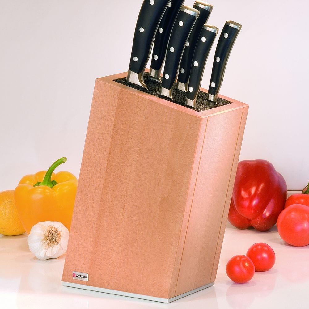 Підставка з наповнювачем для ножів: особливості, види наповнювачів, матеріал корпусу, розміри, форми