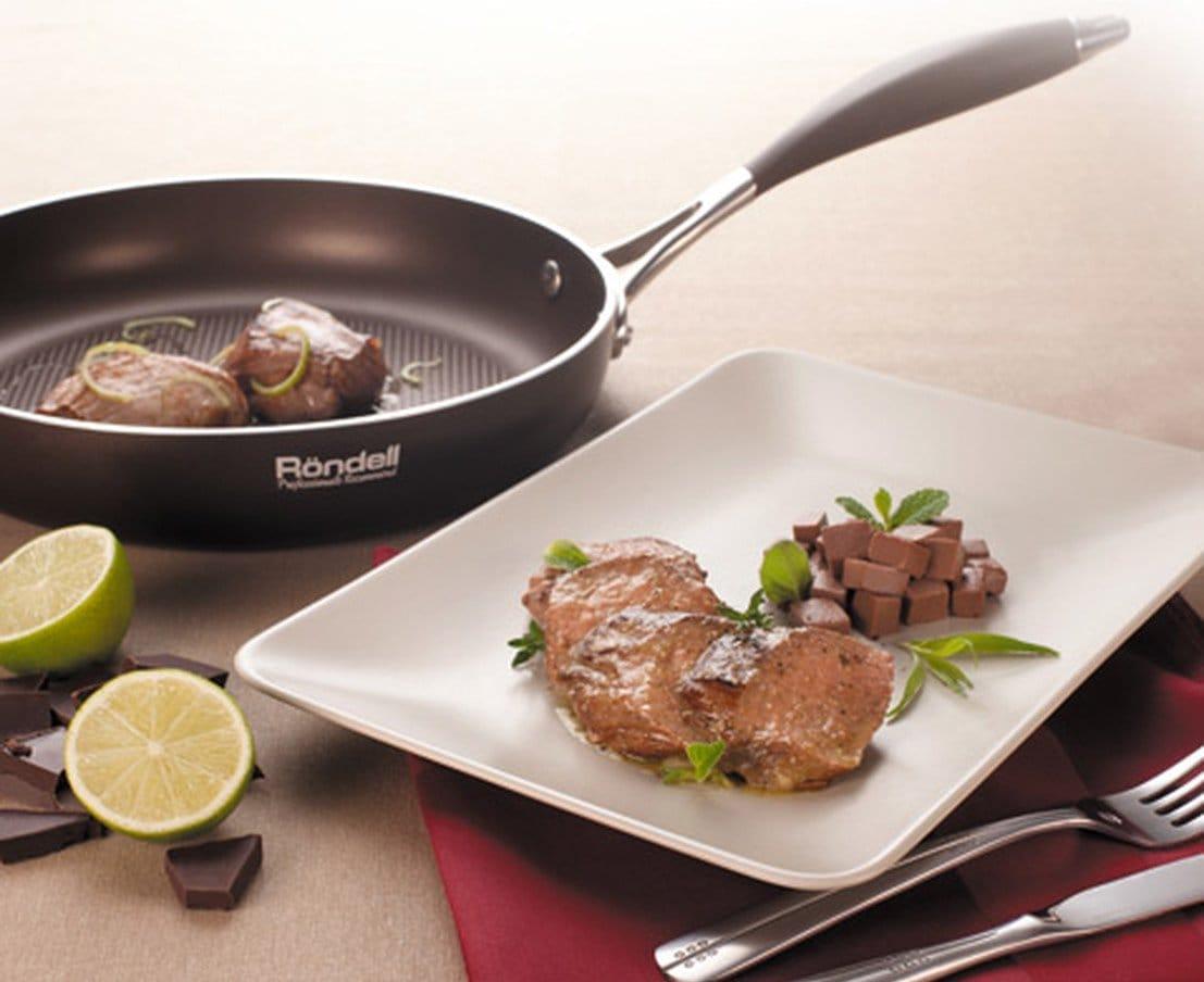 Сковорідки Rondell: сковороди-гриль зі знімною ручкою, набори чавунних сковорідок-вок, млинцеві сковороди, каталог