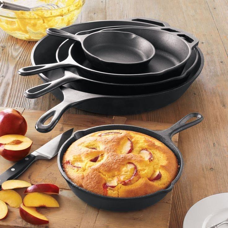 Американська сковорода Lodge: чавунні сковороди-гриль, квадратна Lodge Skillet, кругла посуд
