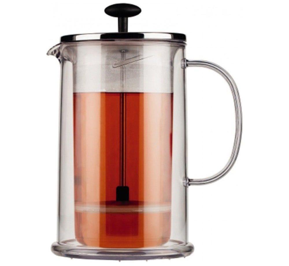 Скляний заварювальний чайник: глек із скла з фільтром-пружинкою і підігрівом, з колбою зі скла для заварювання чаю